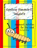 Super Spelling Homework Activity Packet for 20 Words
