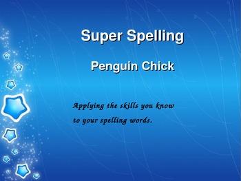 Super Spelling - Reading Street Gr 3 - Penguin Chick