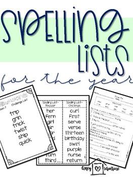 Super Spelling Unit- 1st Grade