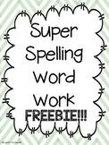Super Spelling Word Work FREEBIE: Short vowels