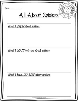 Super Spiders!  A Common Core Science and Writing Unit for Primary Grades!