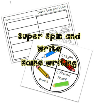 Super Spin and Write Name activity