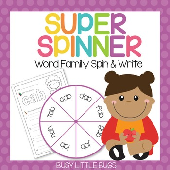 Super Spinner - Word Family Spin and Write