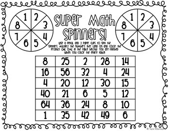 Super Spinners! [games for math fact practice!]