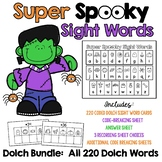 Super Spooky Sight Words BUNDLE:  All 220 Dolch Sight Word