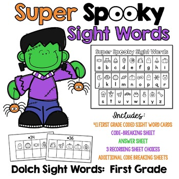 Super Spooky Sight Words - First Grade Dolch Words -  Great for Halloween