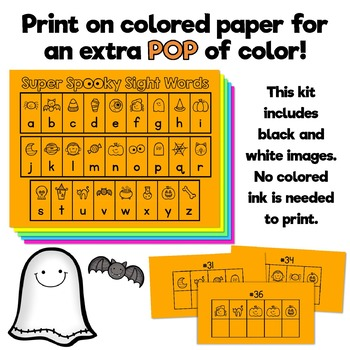 Super Spooky Sight Words - Primer Dolch Words -  Great for Halloween