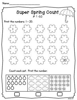 Super Spring Count! Freebie