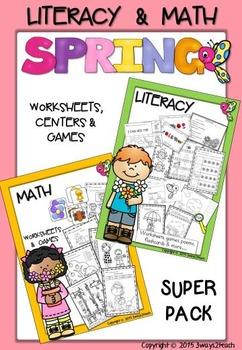 Super Spring Bundle - Literacy, Secret Code Words & Math