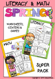 Super Spring Bundle - Literacy, Secret Code Words & Math