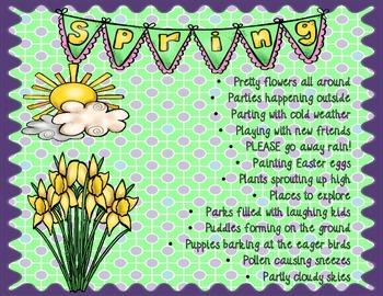 Super Spring Poem (an acrostic poem all about Spring!)