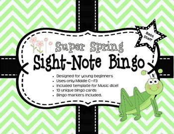 Super Spring Sight-Note Bingo: Bass Staff