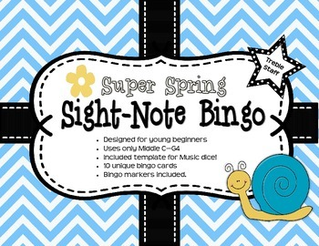 Super Spring Sight-Note Bingo: Treble Staff