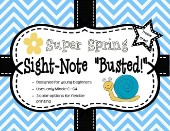 Super Spring Sight-Note Busted: Treble Staff