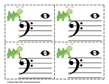 Super Spring Sight-Note Flashcards: Bass Staff