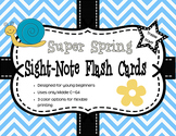Super Spring Sight-Note Flashcards: Treble Staff