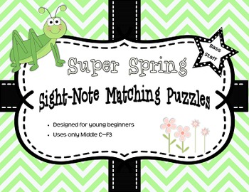 Super Spring Sight-Note Matching Puzzle: Bass Staff