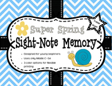Super Spring Sight-Note Memory: Treble Staff