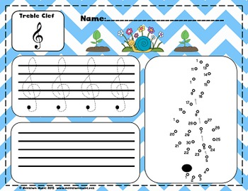 Super Spring Sight-Note Write & Wipe #2: Treble Staff