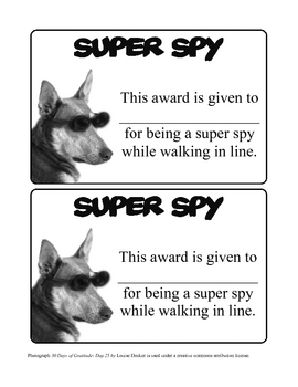 Super Spy- Walking in Line Management Idea