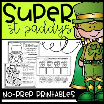 Super St. Paddy's No-Prep Printabes