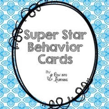 Super Star Behavior Cards