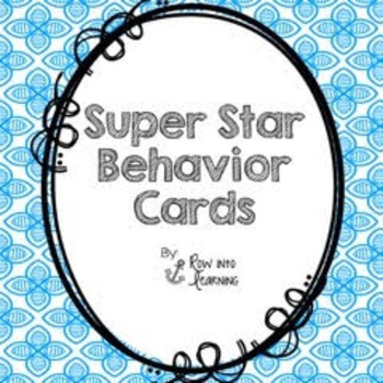 Super Star Behavior Cards