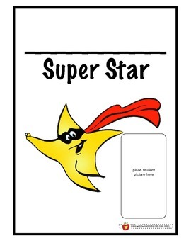 Super Star Book Cover and Journal Template