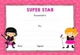 Super Star! Certificate