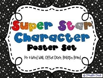 Super Star Character Poster Set