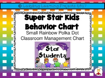 Super Star Kids Classroom Clip Behavior Chart  {Ladybug Learning Projects}