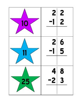 Super Star Subtraction (without regrouping)