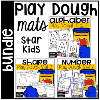 Play Dough Mats Bundle