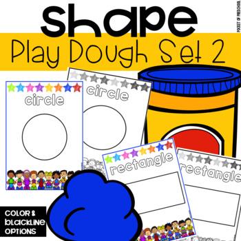 Play Dough 2D Shapes Mats