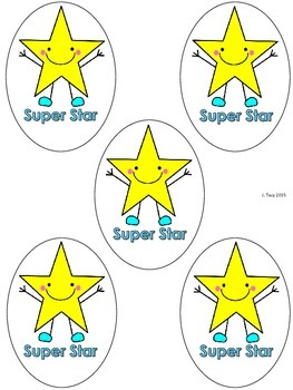EDITABLE Super Star Positive Behavior Notes