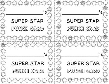Super Star Punch Card!