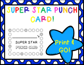 Super Star Punch Card!