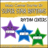 Music Center Starter - Super Star Rhythm Practice & Task Cards