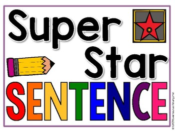 Super Star Sentence- ANCHOR CHART!