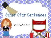 Super Star Sentences (a writing center game)