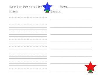 Super Star Sight Word I-Spy