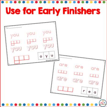 Sight Word Practice Worksheets for Kindergarten