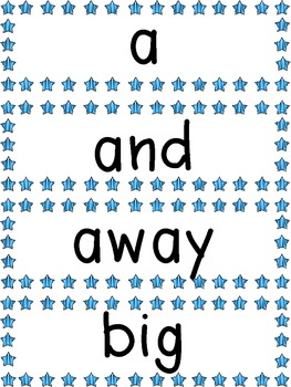 Super Star Sight Words and Word Wall