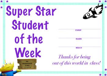 Super Star Student Certificate