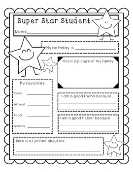 Simple Super Star Student Posters