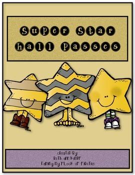 Super Star Themed Hall Passes