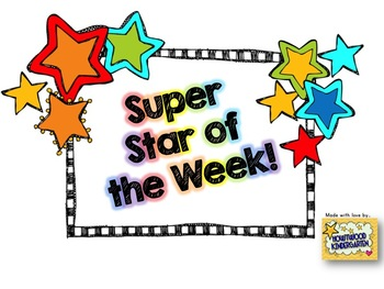 Super star of the week pack editable by howywood for Star of the week poster template