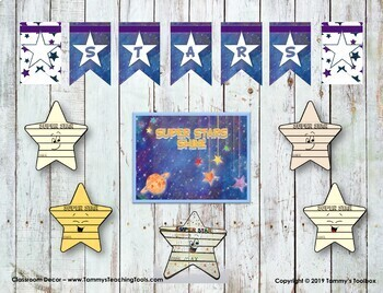 Super Stars Back to School Craft Flip Book with Bulletin Board