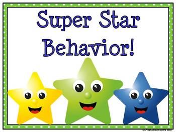 Super Stars! Behavior Clip Chart
