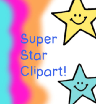 13 Super Stars Clipart - Personal or Commercial use